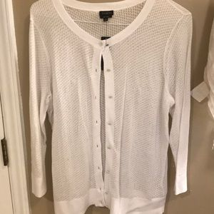 With tags Talbots white button down sweater